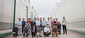 Japanese farmers learn about the technology developed by Novagric