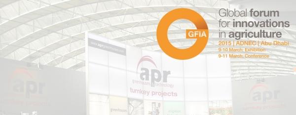 APR Greenhouses attended GFIA 2015 Fair in Abu Dhabi